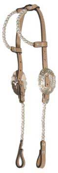 Cirle Y Athens Show Headstall Ultra White