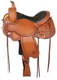 Circle Y Harlow Cedar Run Reining Saddle R 16 Oil