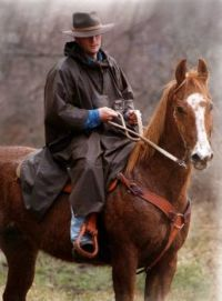 Outback Trading Oilskin Packable Poncho Black