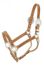 Silver Royal Leaf Stamped Show Halter Light Oil