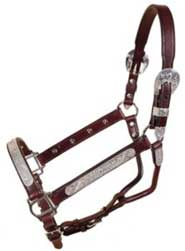 Tory Pecos Bill Show Halter w/Lead Horse Dark Oil