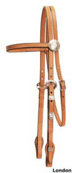 Tory Touch of Silver Browband Headstall Chestnut