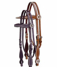 Weaver Texas Star Browband Headstall Chestnut