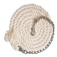 Braided Cotton Lead With Chain White